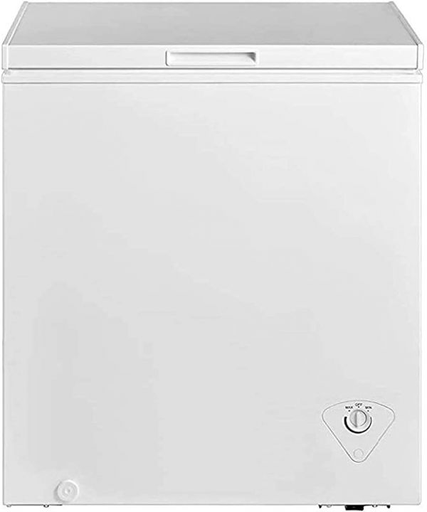 Chest Freezer, Upright Single Door, Compact Space Apartment Home Food Storage Compact Saving Energy Efficient, White