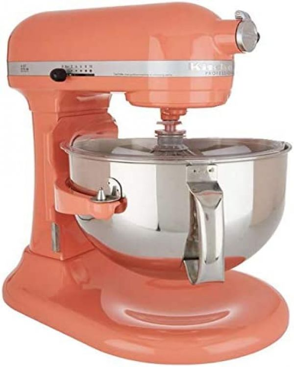 Kitchenaid Professional 600 Stand Mixer 6 quart, Bird of Paradise (Renewed)