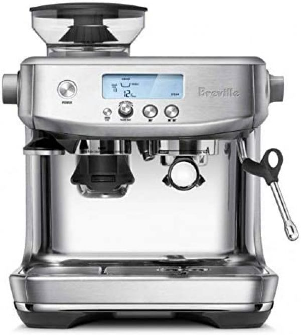 Breville the Barista Pro BES878 Automatic Espresso Machine w/Integrated Conical Burr Grinder (Brushed Stainless Steel)