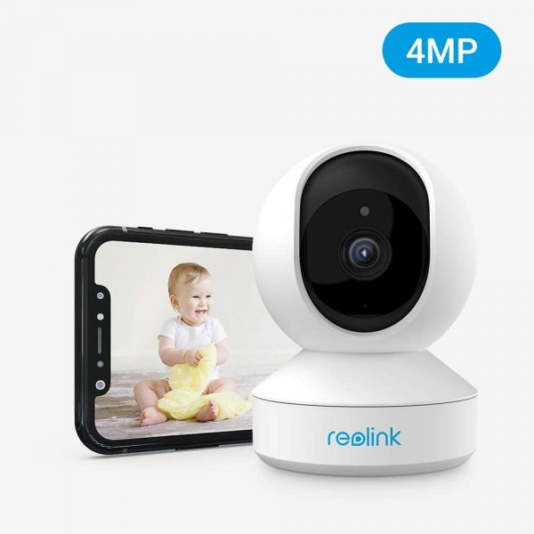 Wireless Security Camera, Reolink 4MP HD Indoor WiFi Cameras for Home Security, Dual-Band 2.4ghz/5ghz Pet Camera, Pan Tilt Baby Monitor, Cloud/SD Card Storage, Two-Way Talk, Night Vision, E1 Pro