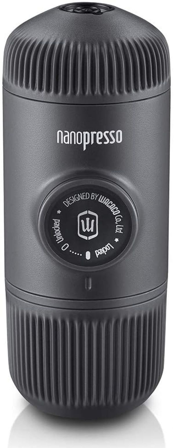 Wacaco Nanopresso Portable Espresso Maker, Upgrade Version of Minipresso, 18 Bar Pressure Hand Coffee Maker, Travel Gadgets, Manually Operated, Compatible with Ground Coffee, Perfect for Camping