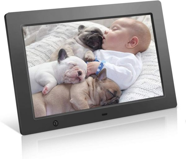 Digital Picture Frame 10.1 inch Digital Photo Frame with Slideshow Electronic Photo Display with Motion Sensor and Auto-Rotation/180°HD IPS/Background Music/Calendar/Remote Control by FLYAMAPIRIT
