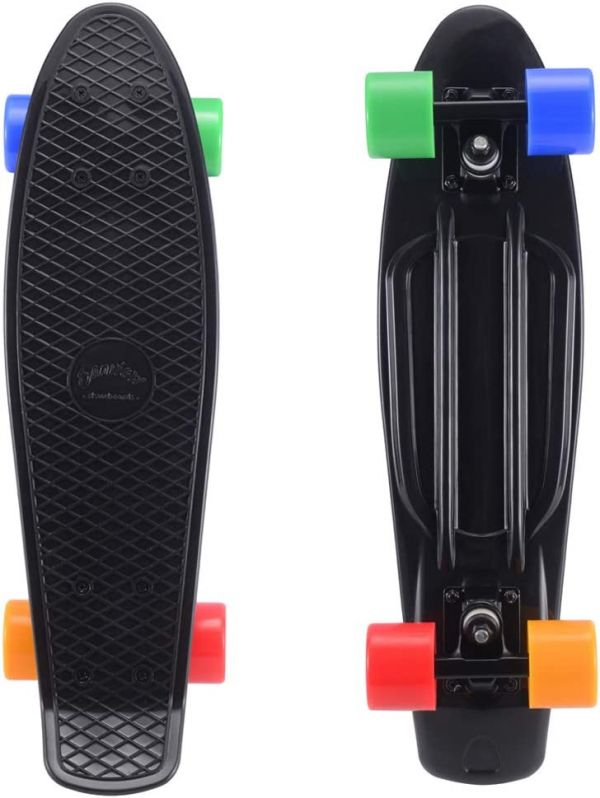 SANVIEW Complete 22 Inch Mini Cruiser Skateboard for Youths Beginners or Kids