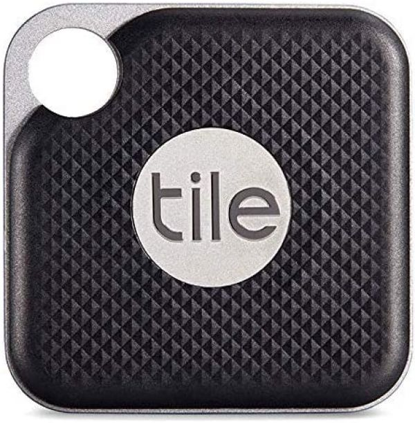 Tile Inc., Pro Black, Bluetooth Tracker and Finder, Water Resistant, Replaceable Battery, Easy to Attach for Keys, Pet Collars and Bags (1 Pack)