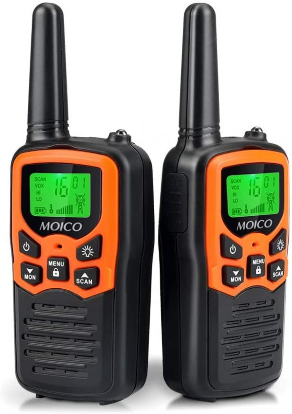 Walkie Talkies Long Range for Adults Two-Way Radios Up to 5 Miles in Open Fields 22 Channels FRS/GMRS VOX Scan LCD Display with LED Flashlight Ideal for Field Survival Biking Hiking Camping