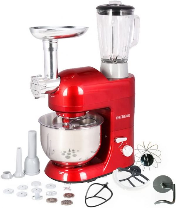 CHEFTRONIC SM1086-Red Standing Mixer, One Size, Red