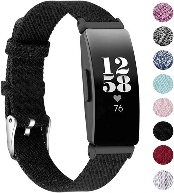 EZCO Bands Compatible with Fitbit Inspire HR  Inspire, Woven Fabric Breathable Watch Strap Quick Release Replacement Wristband Accessories Women Man Compatible with Inspire Smart Watch