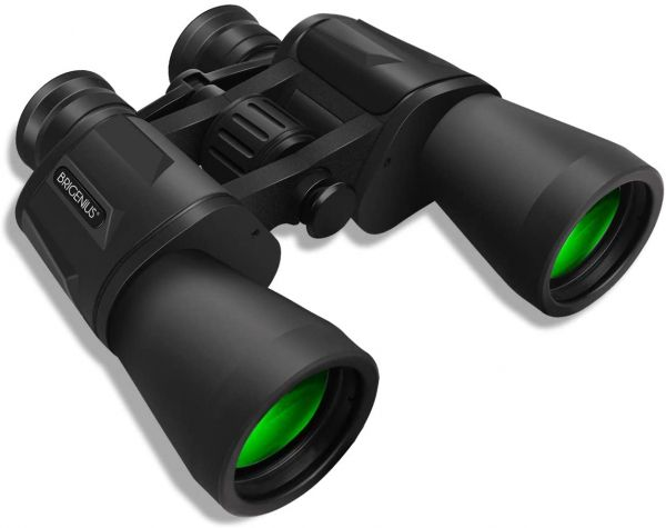 BRIGENIUS 10 x 50 Powerful Binoculars for Adults, Durable Full-Size Clear Binoculars for Bird Watching Travel Sightseeing Hunting Wildlife Watching Outdoor Sports Games and Concerts