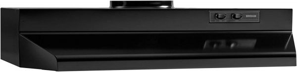 Broan-NuTone 423623 Range Hood Insert with Light Exhaust Fan for Under Cabinet, 6.0 Sones, 190 CFM, 36-Inch, Black