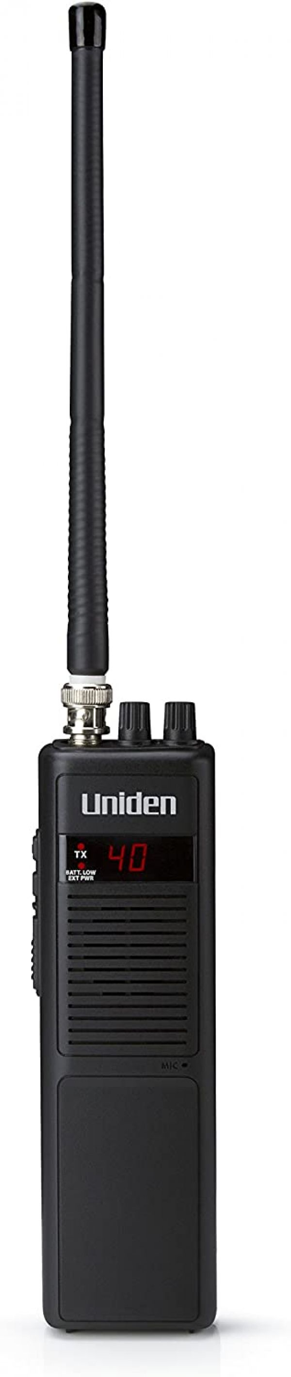 Uniden PRO401HH Professional Series 40 Channel Handheld CB Radio, 4 Watts Power with Hi/Low Power Switch, Auto noise cancellation, Belt Clip And Strap Included, 2.75in. x 4.33in. x 8.66in.