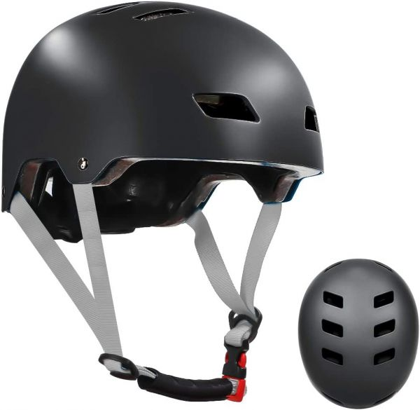 LANOVAGEAR Skateboard Helmet ASTM & CPSC Certified - 12 Vents Ventilation System – Adjustable for Kids, Youth & Adults