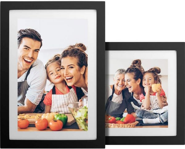 No Monthly Fee 10 inch Touch Screen WiFi Digital Picture Frame with 1920x1080 IPS Screen, 16GB Storage Included, Auto-Rotate, Digital Photo Frame Share Photos via App, Email