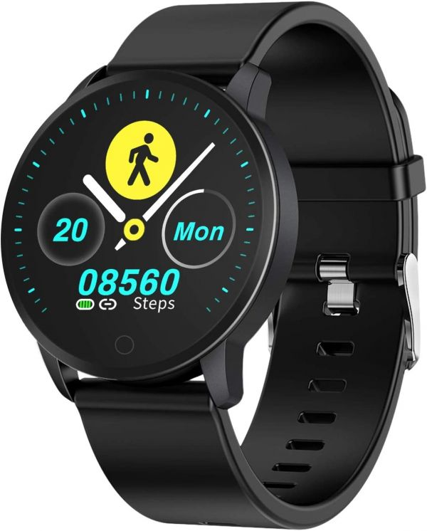 BingoFit Fitness Smart Watch Lightweight,Waterproof Activity Tracker with Heart Rate Monitor Blood Pressure Health Tracker 10 Sport Modes Pedometer Smartwatches for Android iOS Gift for Men Women Kids