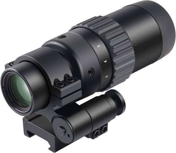 Feyachi M36 1.5X - 5X Red Dot Sight Optics Magnifier with Flip to Side Mount