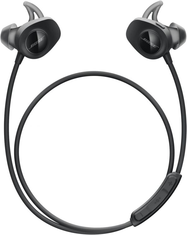 Bose SoundSport, Wireless Earbuds, (Sweatproof Bluetooth Headphones for Running and Sports), Black