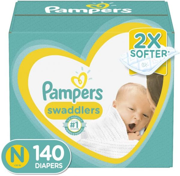 Diapers Newborn/Size 0 (< 10 lb), 140 Count - Pampers Swaddlers Disposable Baby Diapers, Enormous Pack
