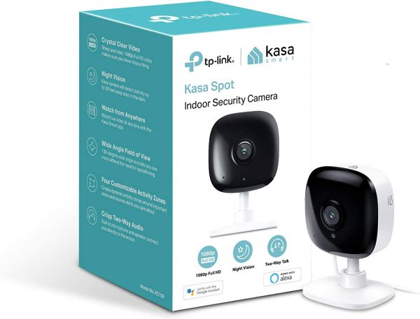 Kasa Spot Indoor Camera by TP-Link, 1080p HD Smart Home Security Camera with Night Vision, Motion Detection for Pet Baby Monitor, Works with Alexa Echo & Google Home (KC100)