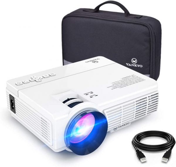 VANKYO LEISURE 3 Mini Projector, 1080P and 170 Display Supported, Portable Movie Projector with 40,000 Hrs LED Lamp Life, Compatible with TV Stick, PS4, HDMI, VGA, TF, AV and USB