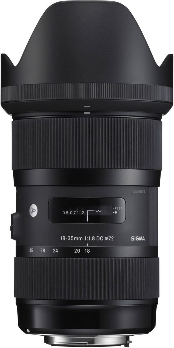 Sigma 210101 18-35mm F1.8 DC HSM Lens for Canon APS-C DSLRs (Black) International version (No Warranty)