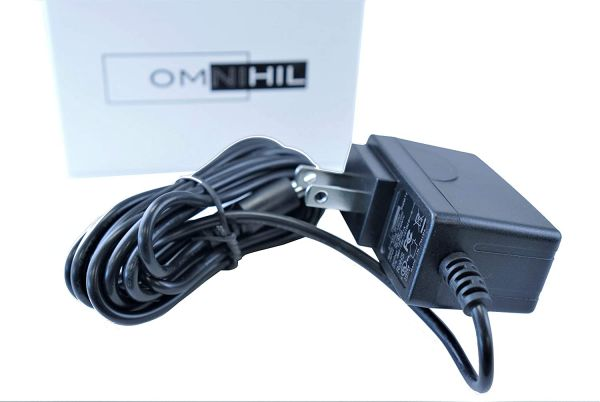 [UL Listed] OMNIHIL 8 Feet Long AC/DC Adapter Compatible with Vtech Baby Monitor S0051V0600040 Wall Charger