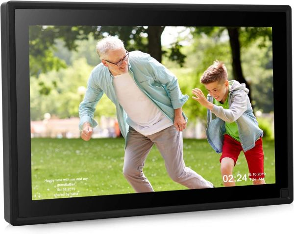 Dhwazz Digital Photo Frame, 10 Inch WiFi 16GB IPS HD Electronic Picture Frames with LCD Touch Screen, Share Moments via Email, APP, Facebook, Twitter, Support Slideshow, Video and Music, USB, SD Card