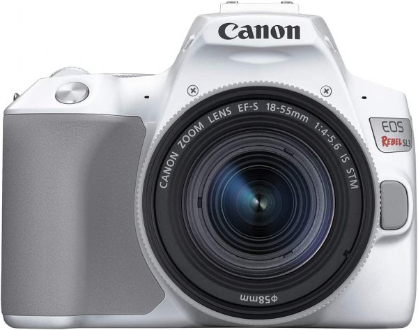 Canon EOS REBEL SL3 Digital SLR Camera with EF-S 18-55mm lens kit, Built-in Wi-Fi, Dual Pixel CMOS AF and 3.0 inch Vari-angle Touch Screen, White