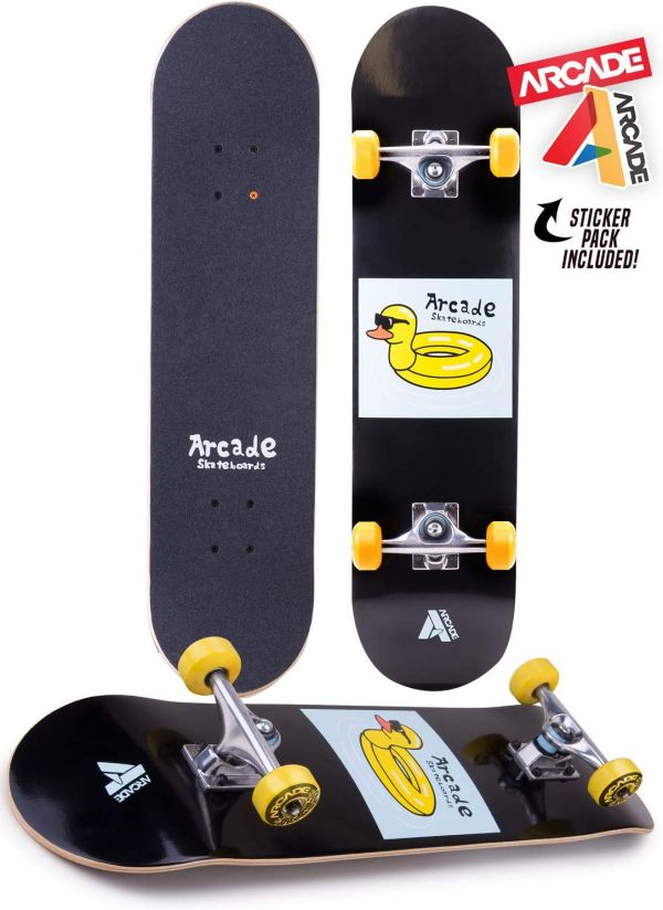 "Arcade Pro Skateboard 31"" Standard Complete Skateboards Professional Complete Board w/Concave - Skate Boards Great for Beginners, Adults, Teens, Youth & Kids"