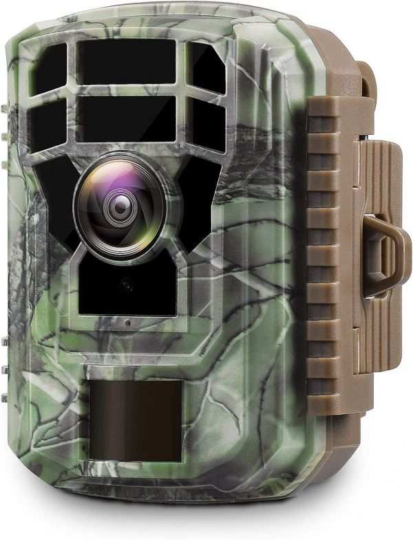 "Campark Mini Trail Camera 1080P HD Game Camera Waterproof Wildlife Scouting Hunting Cam with 12MP 120° Wide Angle Lens and Night Vision 2.4"" LCD IR LEDs"