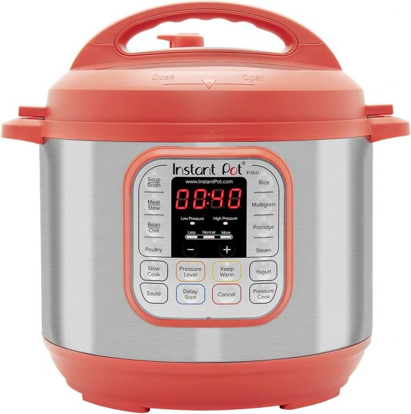 Instant Pot Duo 7-in-1 Electric Pressure Cooker, Slow Cooker, Rice Cooker, Steamer, Saute, Yogurt Maker, and Warmer, 6 Quart, Red, 14 One-Touch Programs