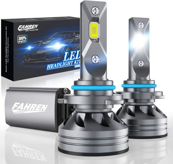 Fahren 9005/HB3/H10 LED Headlight Bulbs, 60W 10000 Lumens Super Bright LED Headlights Conversion Kit 6500K Cool White IP68 Waterproof, Pack of 2