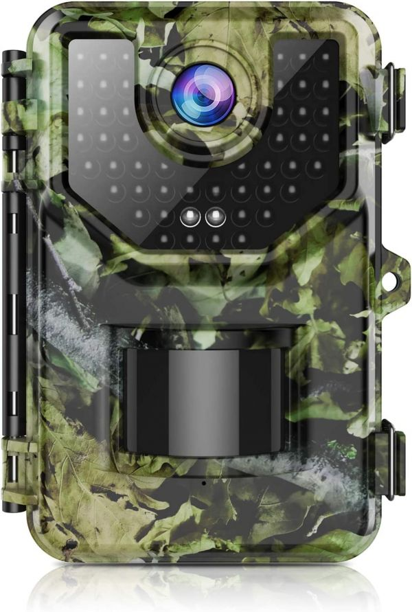 "Trail Camera, Hunting Camera with 120° Wide-Angle Motion Latest Sensor View 0.2s Trigger Time 1080P 16MP Trail Game Camera with 940nm No Glow and IP66 Waterproof 2.4"" LCD 48pcs for Wildlife Monitoring"
