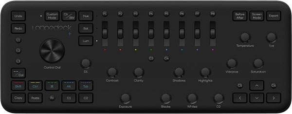 Loupedeck+ The Photo and Video Editing Console for Lightroom Classic, Premiere Pro, Final Cut Pro, Photoshop with Camera Raw, After Effects, Audition and Aurora HDR