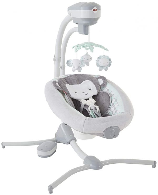 Fisher-Price Sweet Surroundings Monkey Cradle n Swing