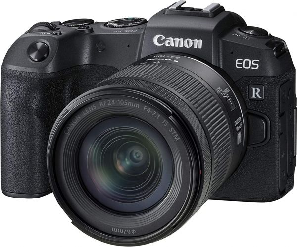 Canon EOS RP Full-Frame Mirrorless Interchangeable Lens Camera + RF24-105mm Lens F4-7.1 is STM Lens Kit- Compact and Lightweight for Traveling and Vlogging