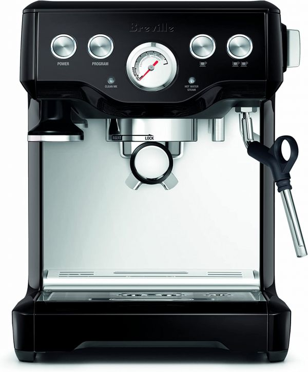Breville BES840BSXL The Infuser Espresso Machine, Black Sesame, 2.3