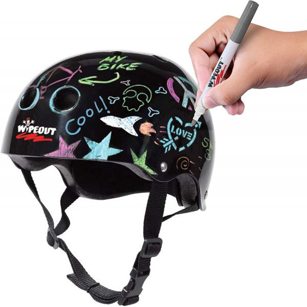 Wipeout Dry Erase Kids Helmet for Bike, Skate, and Scooter