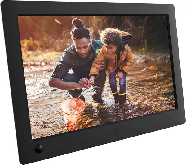 NIX Advance 8 Inch USB Digital Photo Frame Widescreen - HD IPS Display, Auto-rotate, Motion Sensor, Remote Control - Mix Photos and Videos in the Same Slideshow
