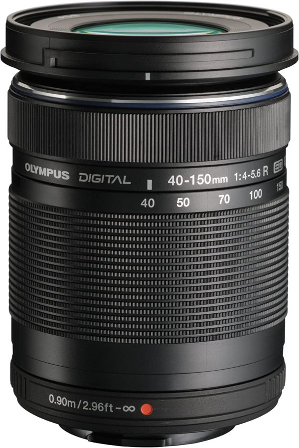 Olympus M.Zuiko Digital ED 40-150mm F4.0-5.6 R Zoom Lens, for Micro Four Thirds Cameras (Black)