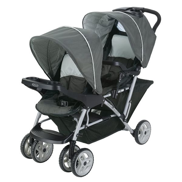 Graco DuoGlider Double Stroller | Lightweight Double Stroller with Tandem Seating, Glacier