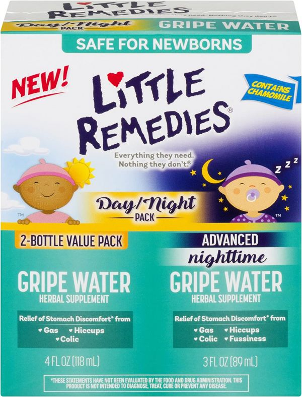 Little Remedies Day/Night Gripe Water | Safe For Newborns | 7 FL OZ
